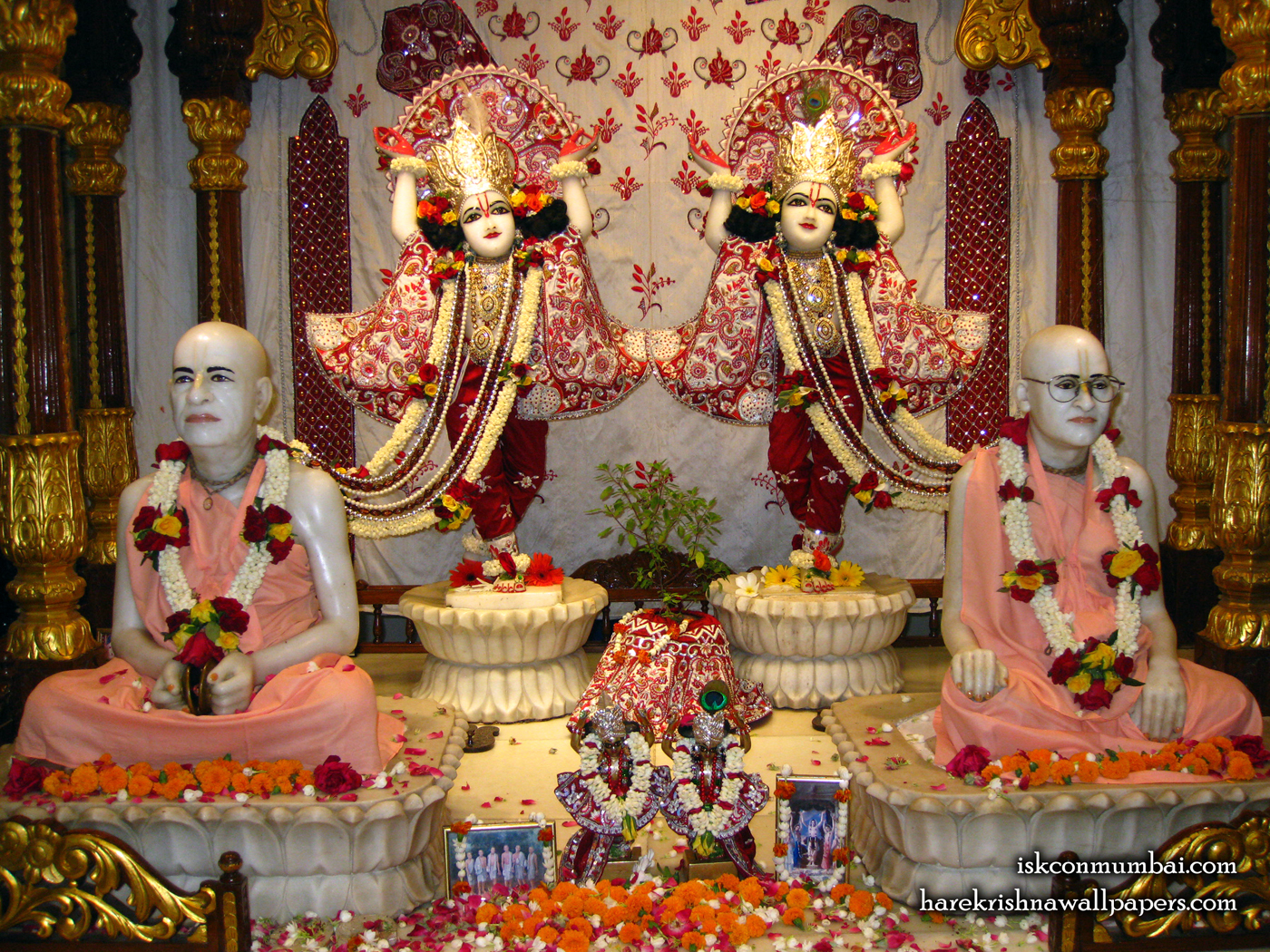 Sri Sri Gaura Nitai With Acharyas Wallpaper (020) Size 1400x1050 Download