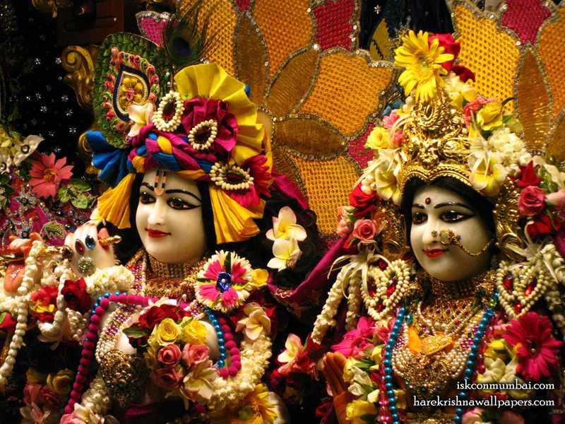 Sri Sri Radha Rasabihari Close up Wallpaper (020)