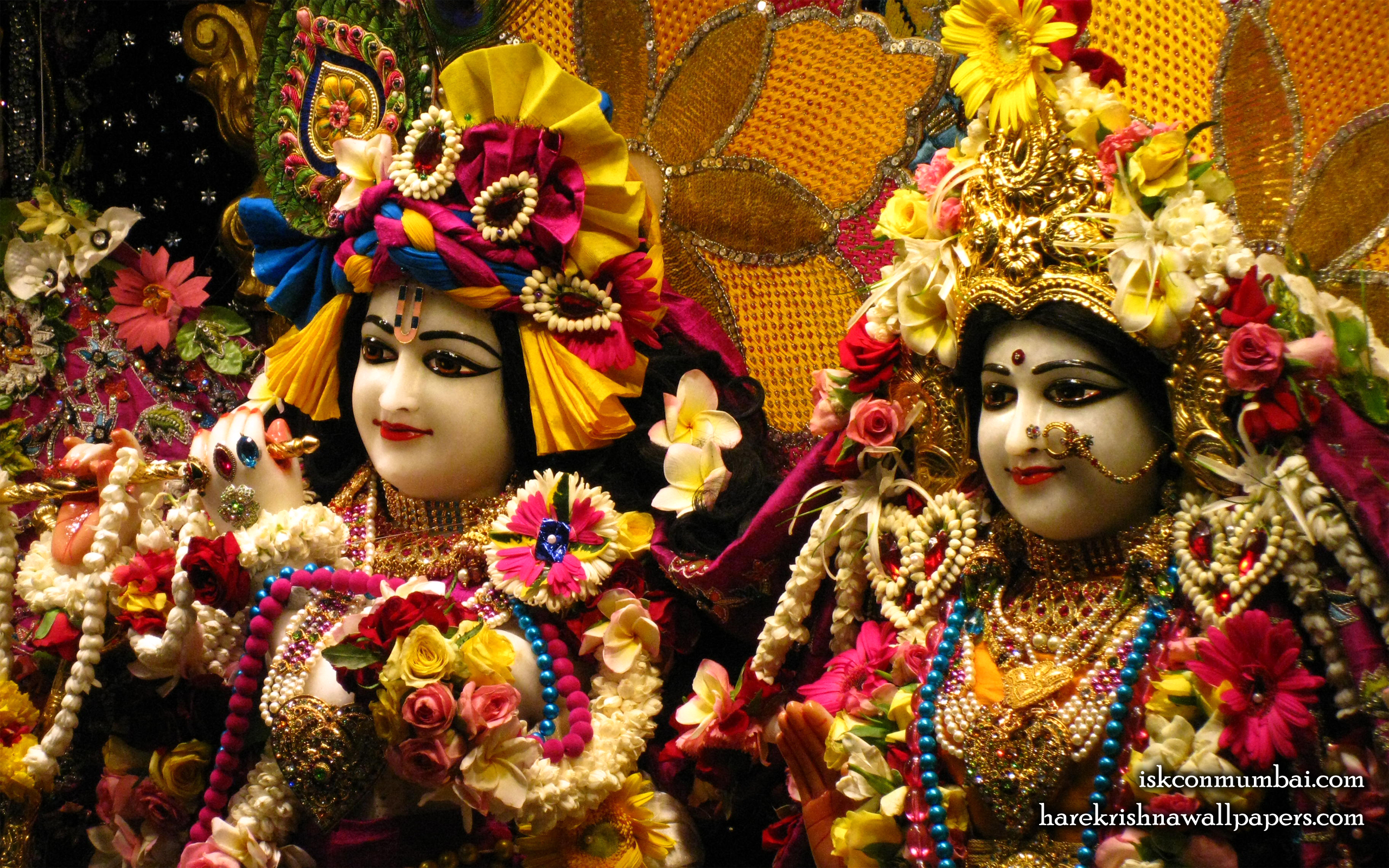 Sri Sri Radha Rasabihari Close up Wallpaper (020) Size 2560x1600 Download