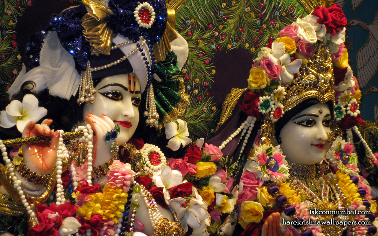 Sri Sri Radha Rasabihari Close up Wallpaper (022) Size 1280x800 Download