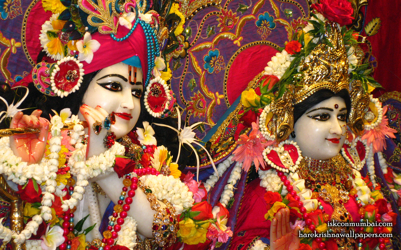 Sri Sri Radha Rasabihari Close up Wallpaper (023) Size 1680x1050 Download