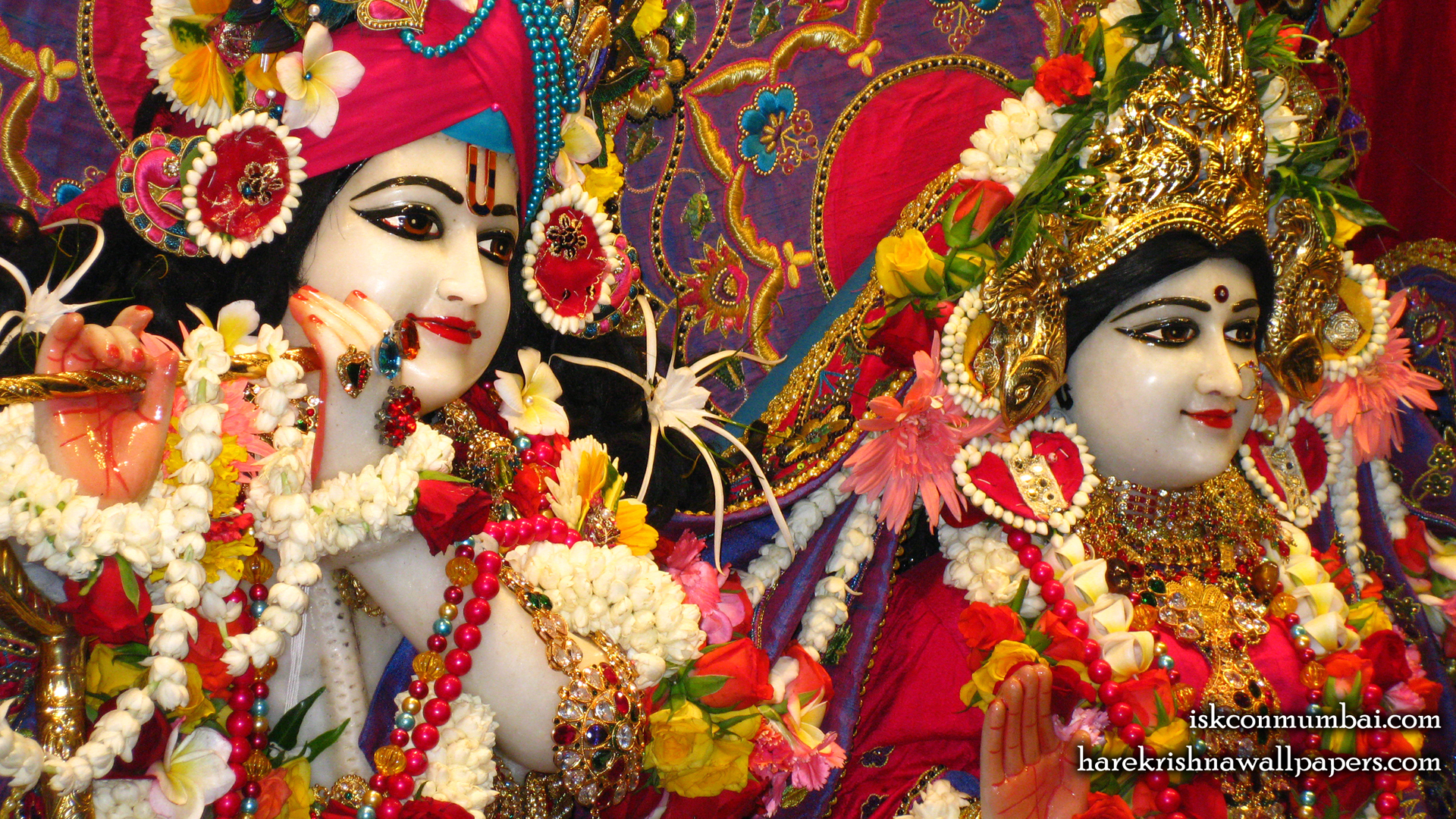 Sri Sri Radha Rasabihari Close up Wallpaper (023) Size 1920x1080 Download