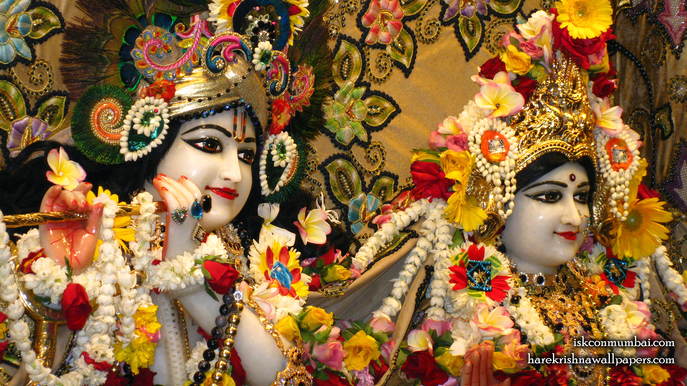 Sri Sri Radha Rasabihari Close up Wallpaper (025) Size 2400x1350 Download