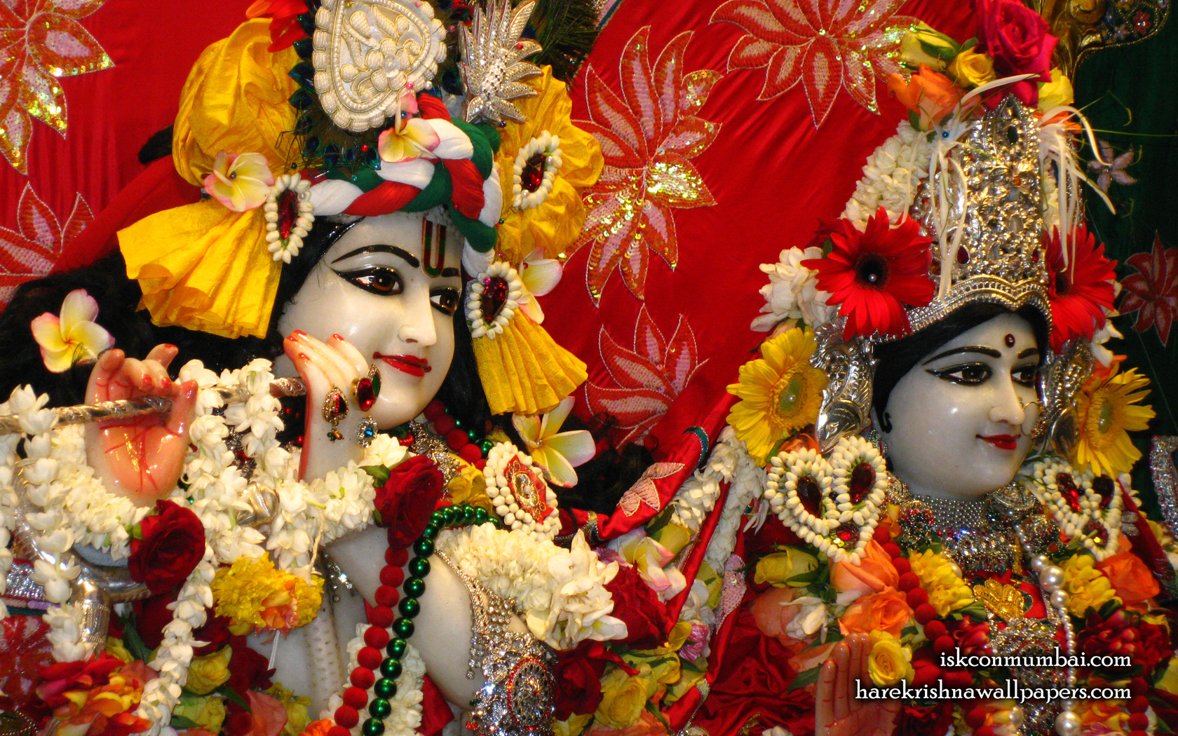 Sri Sri Radha Rasabihari Close up Wallpaper (026) Size 1680x1050 Download