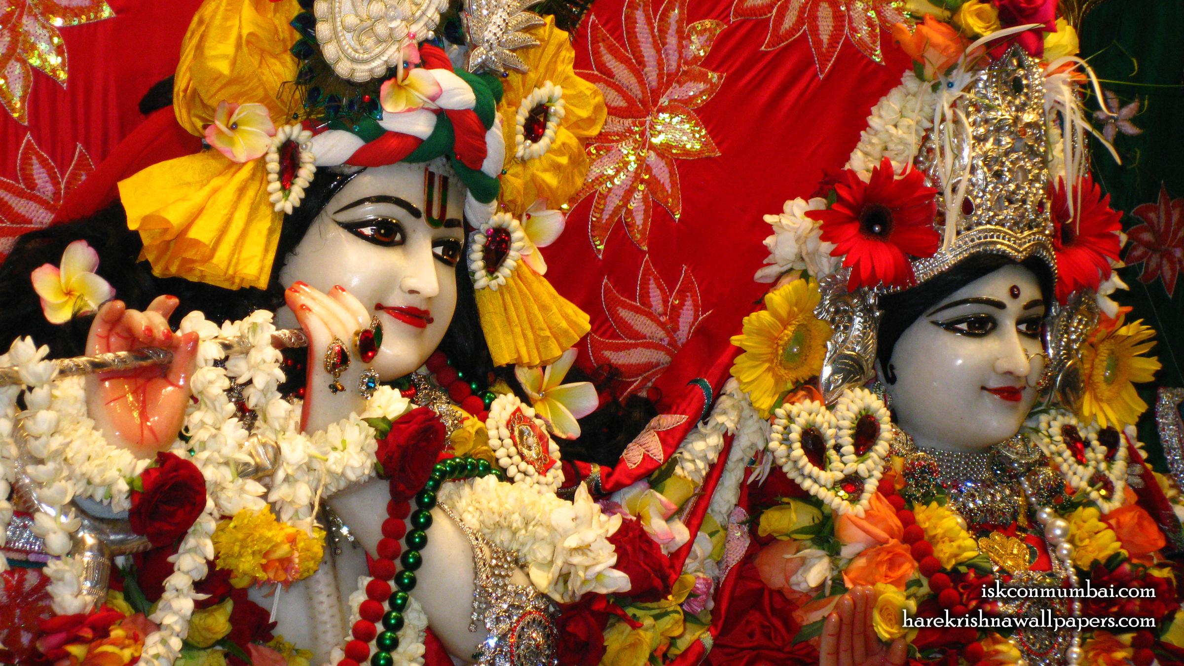 Sri Sri Radha Rasabihari Close up Wallpaper (026) Size 2400x1350 Download