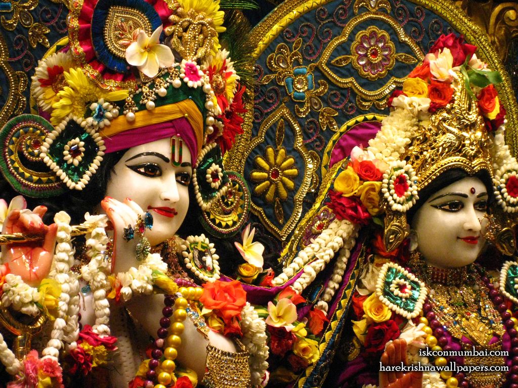 Sri Sri Radha Rasabihari Close up Wallpaper (027) Size 1024x768 Download