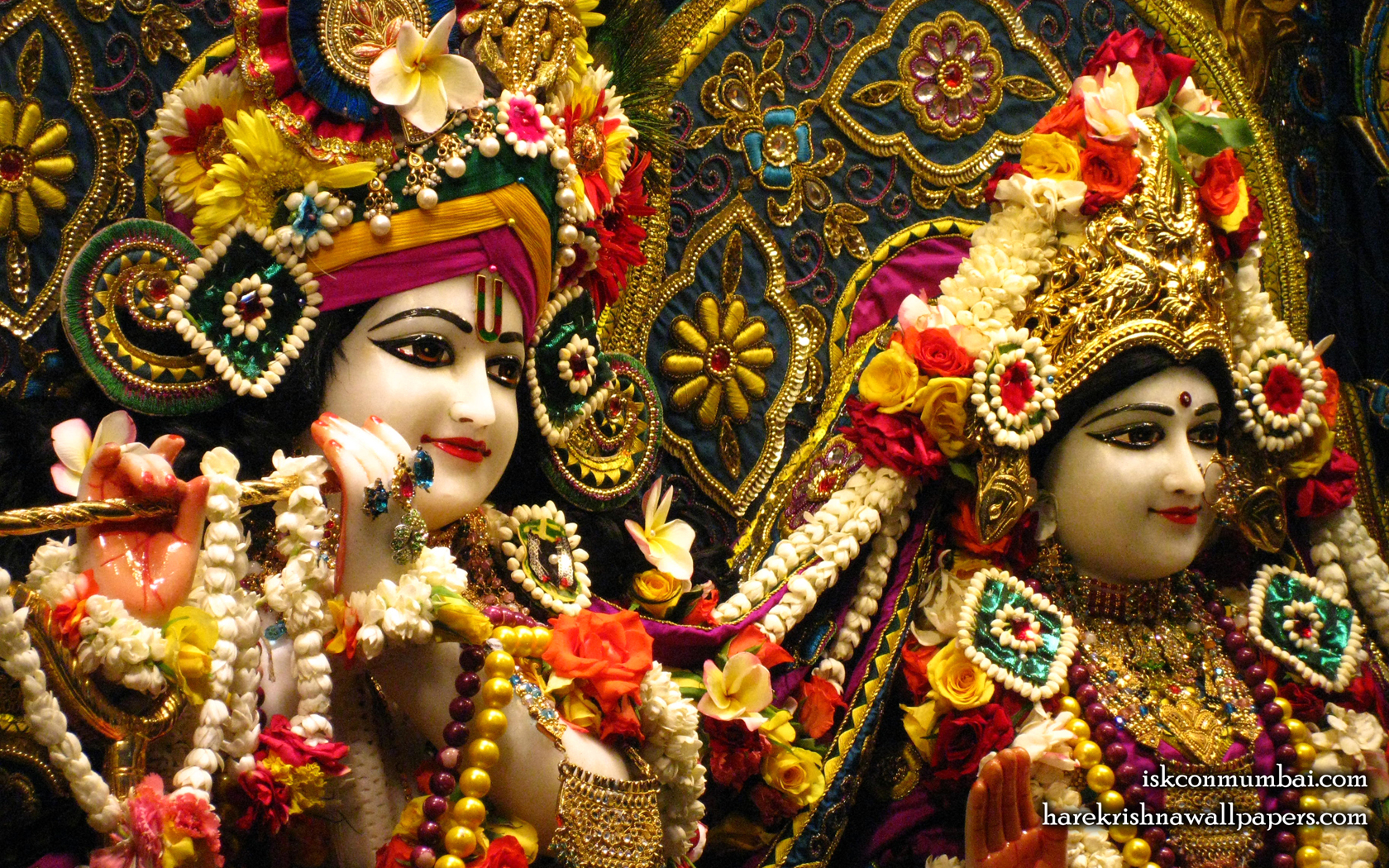 Sri Sri Radha Rasabihari Close up Wallpaper (027) Size 1680x1050 Download