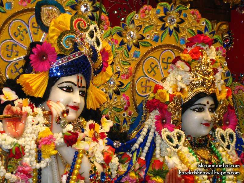 Sri Sri Radha Rasabihari Close up Wallpaper (029)