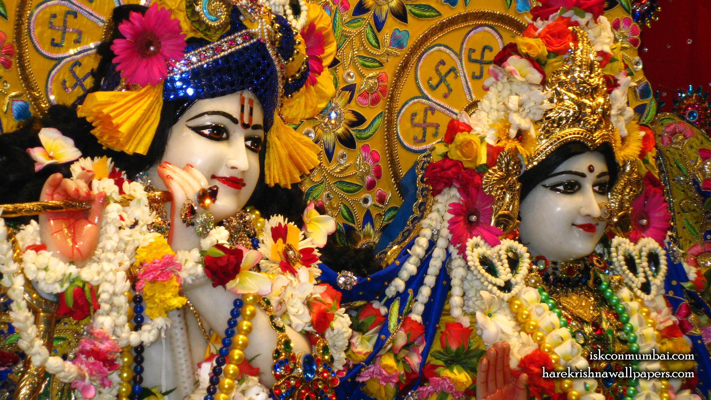 Sri Sri Radha Rasabihari Close up Wallpaper (029) Size 2400x1350 Download