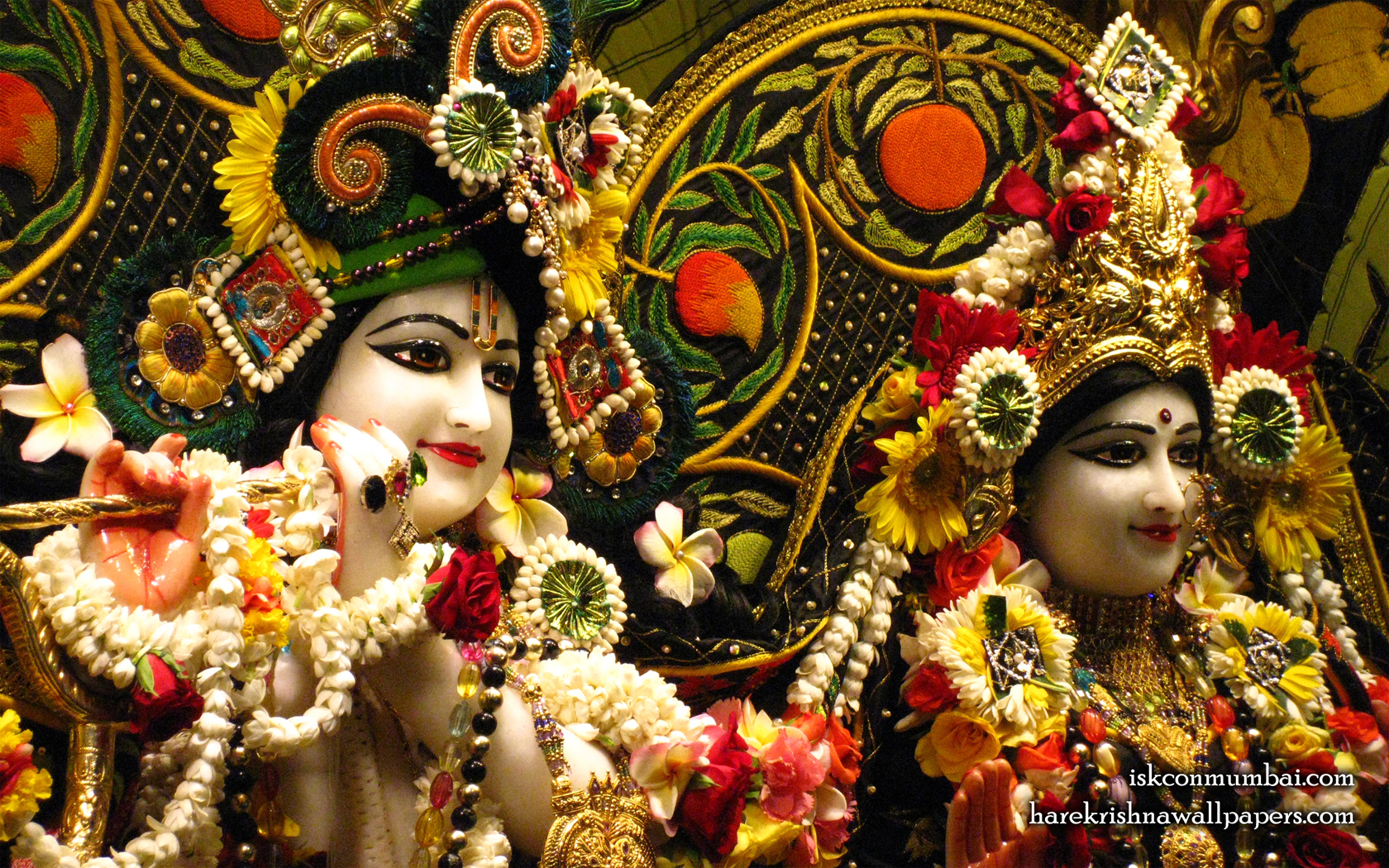 Sri Sri Radha Rasabihari Close up Wallpaper (030) Size 1680x1050 Download