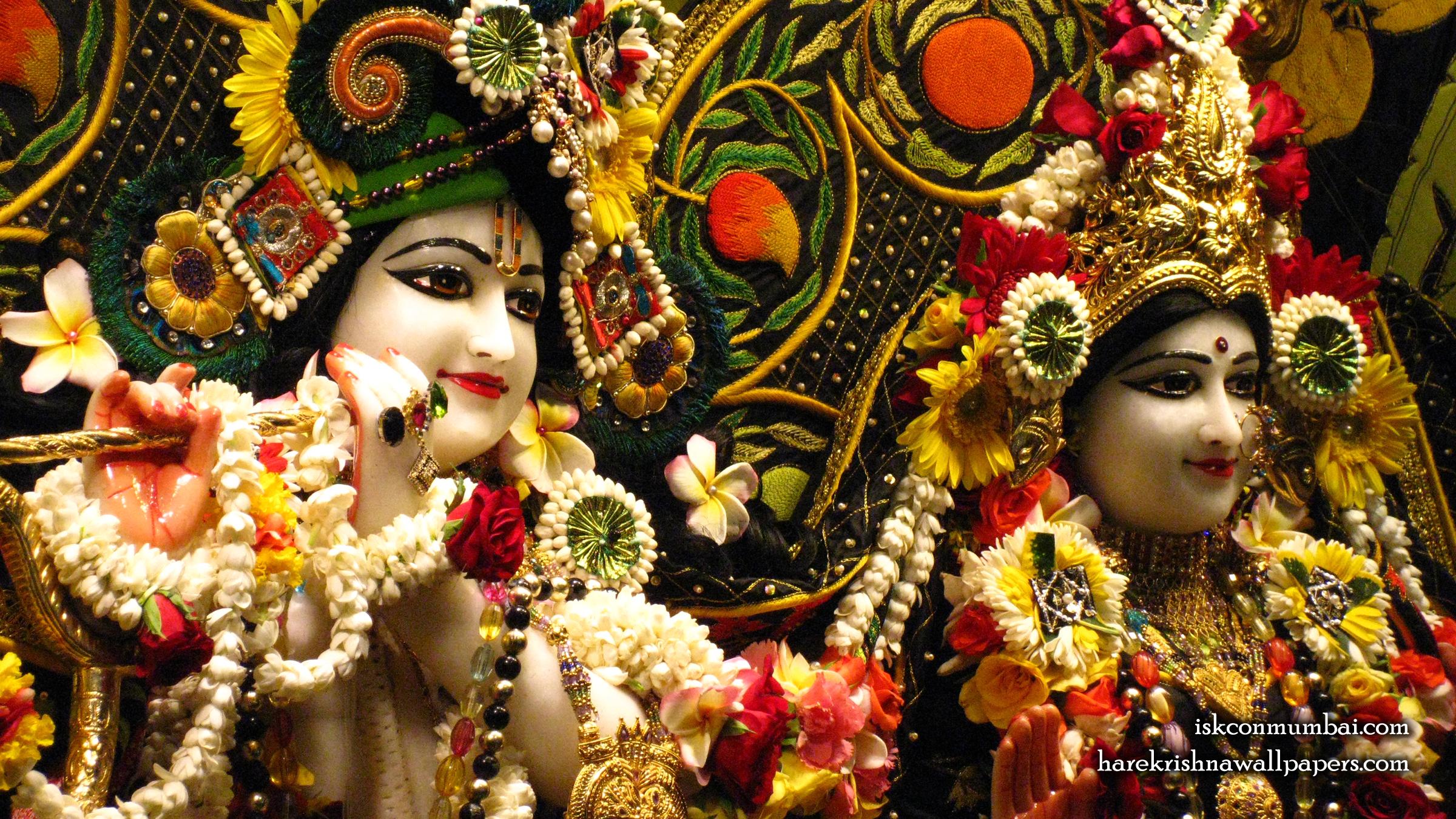 Sri Sri Radha Rasabihari Close up Wallpaper (030) Size 2400x1350 Download