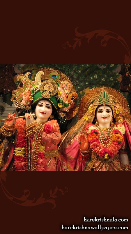 Sri Sri Rukmini Dwarkadhish Close up Wallpaper (004) Size 450x800 Download
