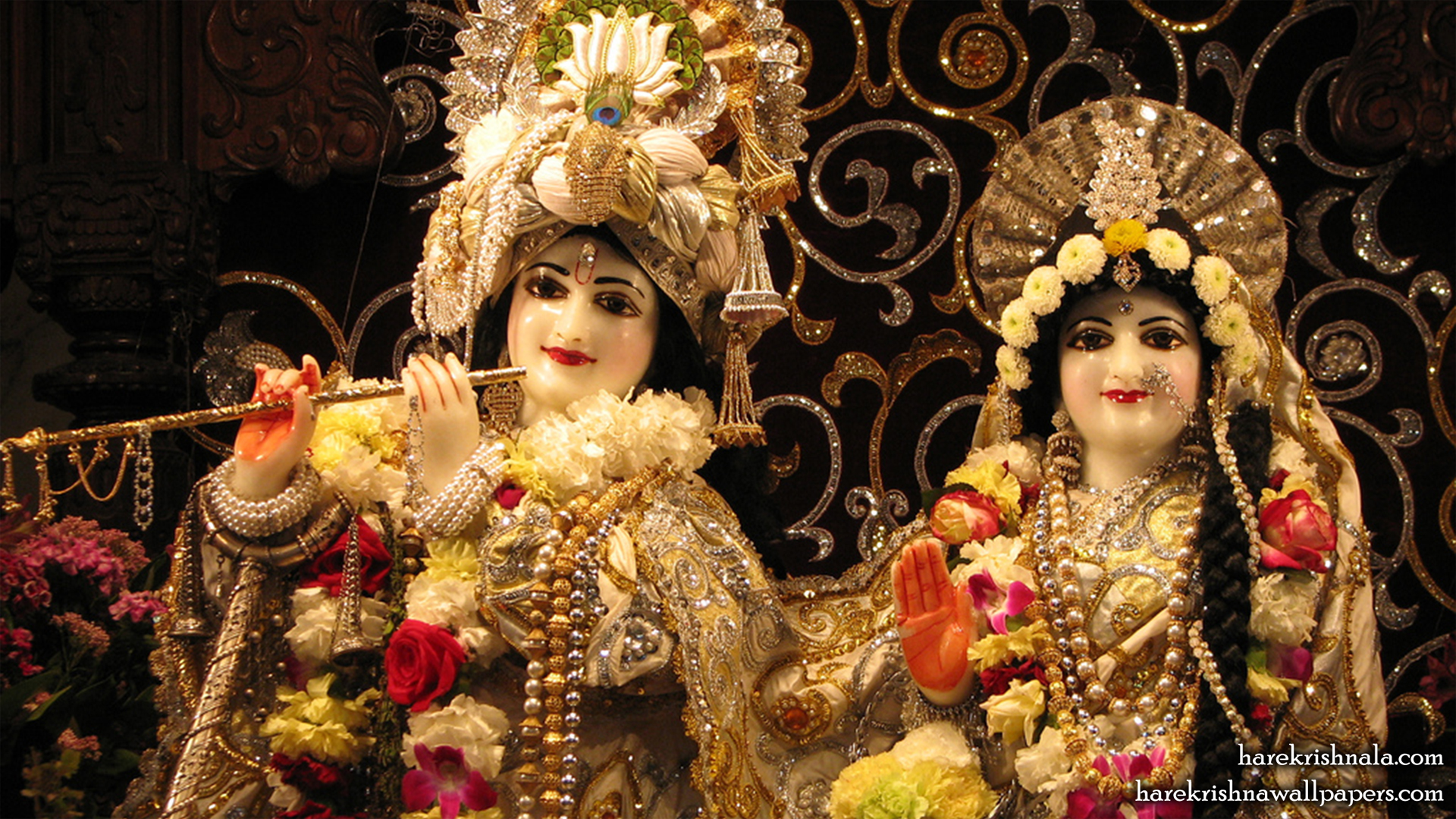 Sri Sri Rukmini Dwarkadhish Close up Wallpaper (006) Size 1920x1080 Download