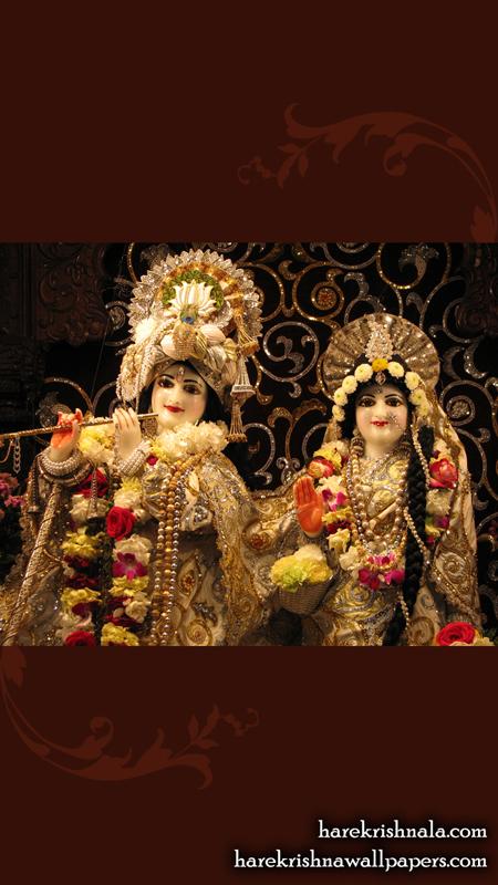 Sri Sri Rukmini Dwarkadhish Close up Wallpaper (006) Size 450x800 Download