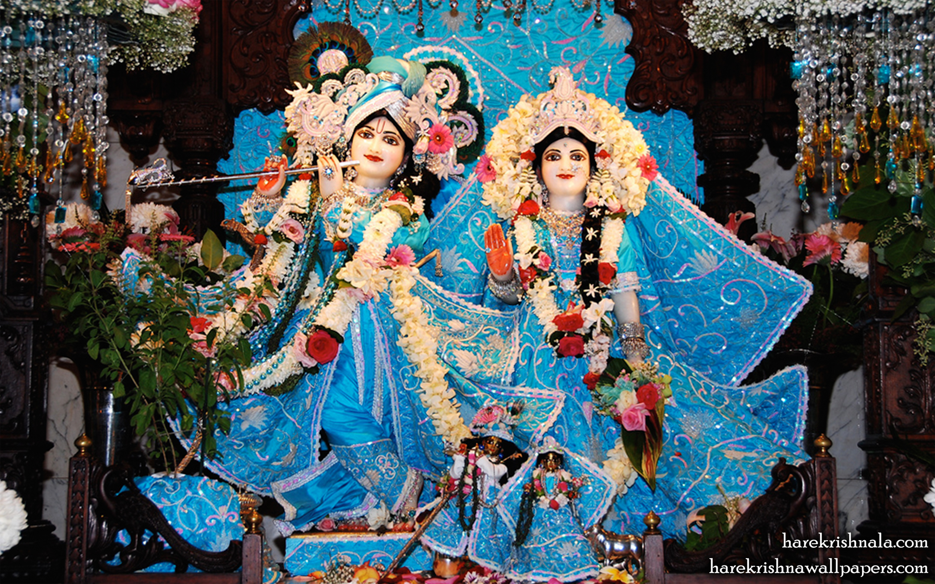 Sri Sri Rukmini Dwarkadhish Wallpaper (007) Size 1920x1200 Download