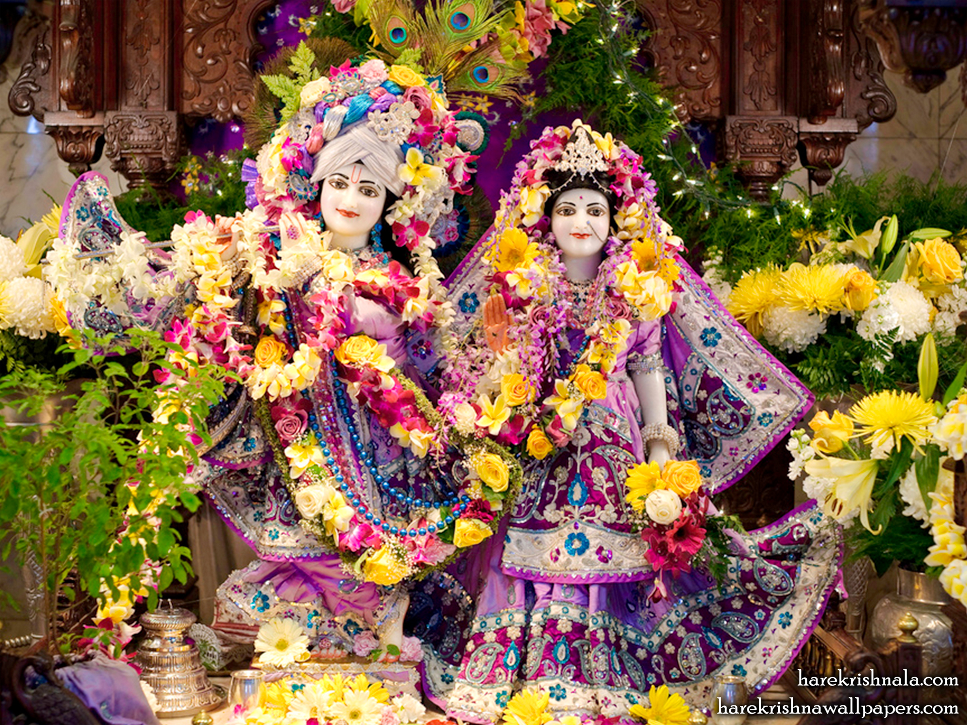 Sri Sri Rukmini Dwarkadhish Wallpaper (009) Size 1920x1440 Download