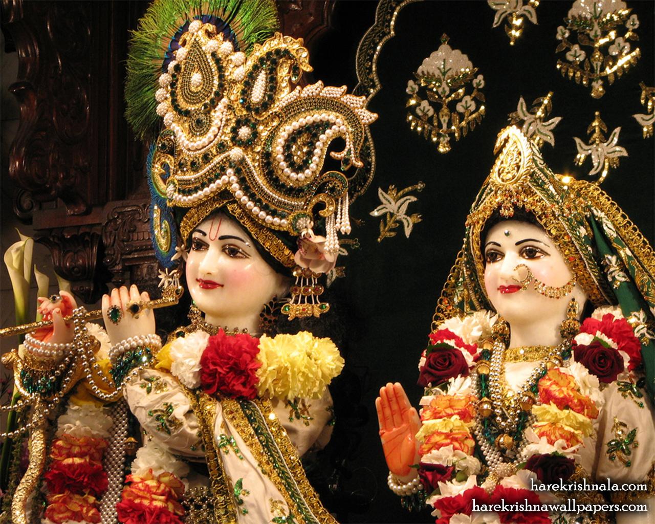 Sri Sri Rukmini Dwarkadhish Close up Wallpaper (010) Size 1280x1024 Download