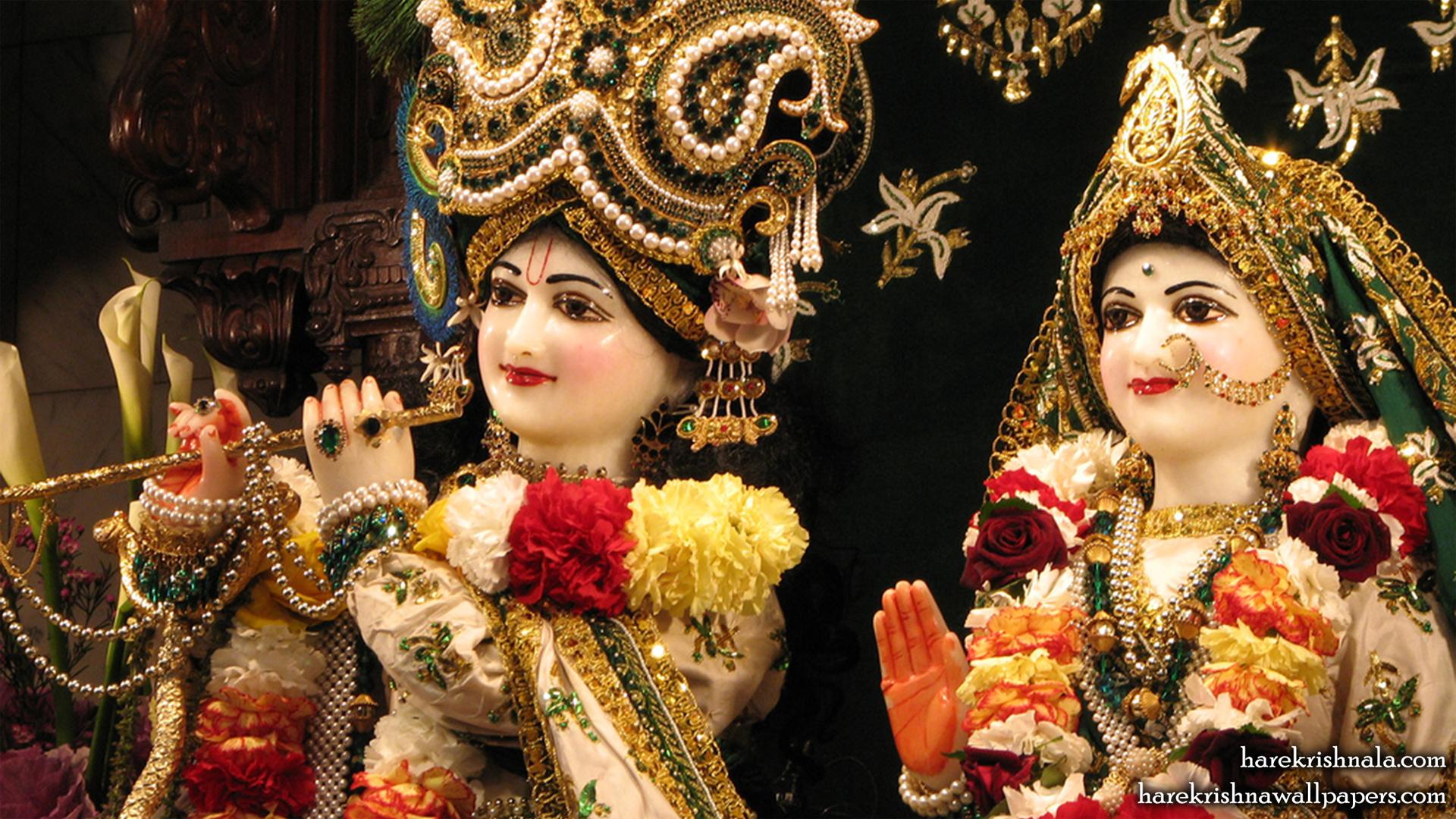 Sri Sri Rukmini Dwarkadhish Close up Wallpaper (010) Size 1920x1080 Download