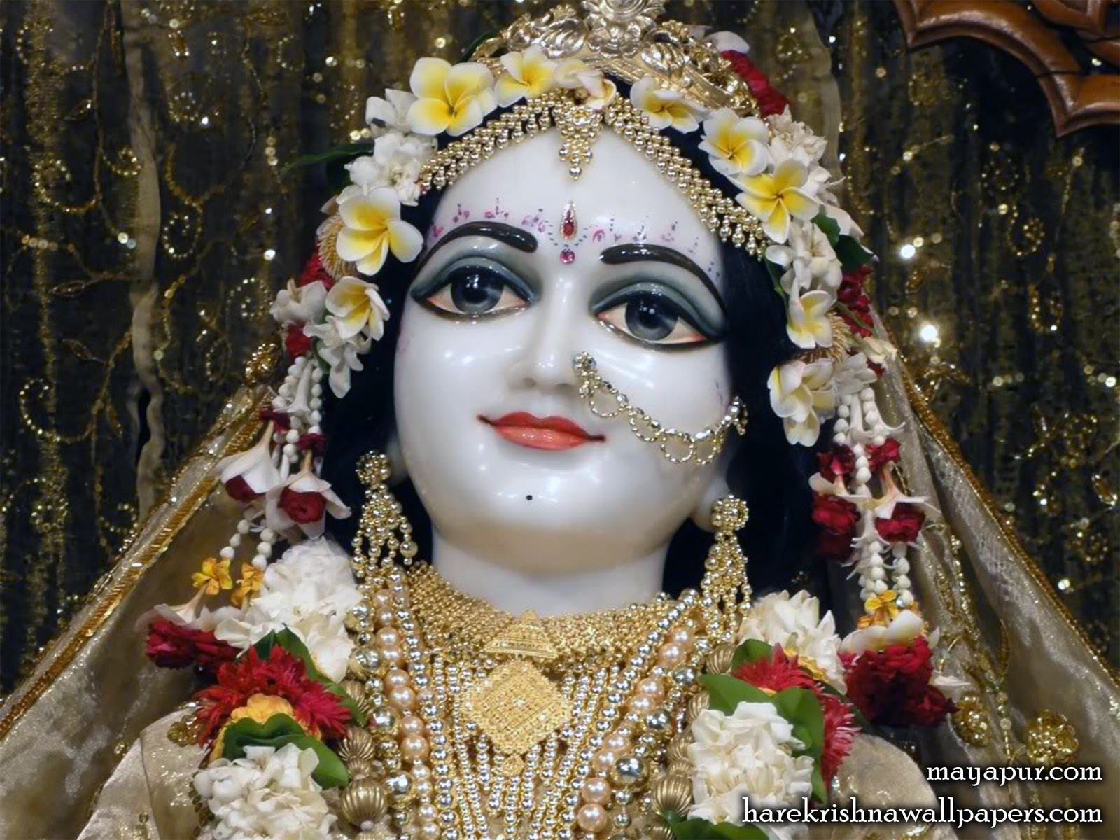 Sri Radha Close up Wallpaper (003) Size1600x1200 Download