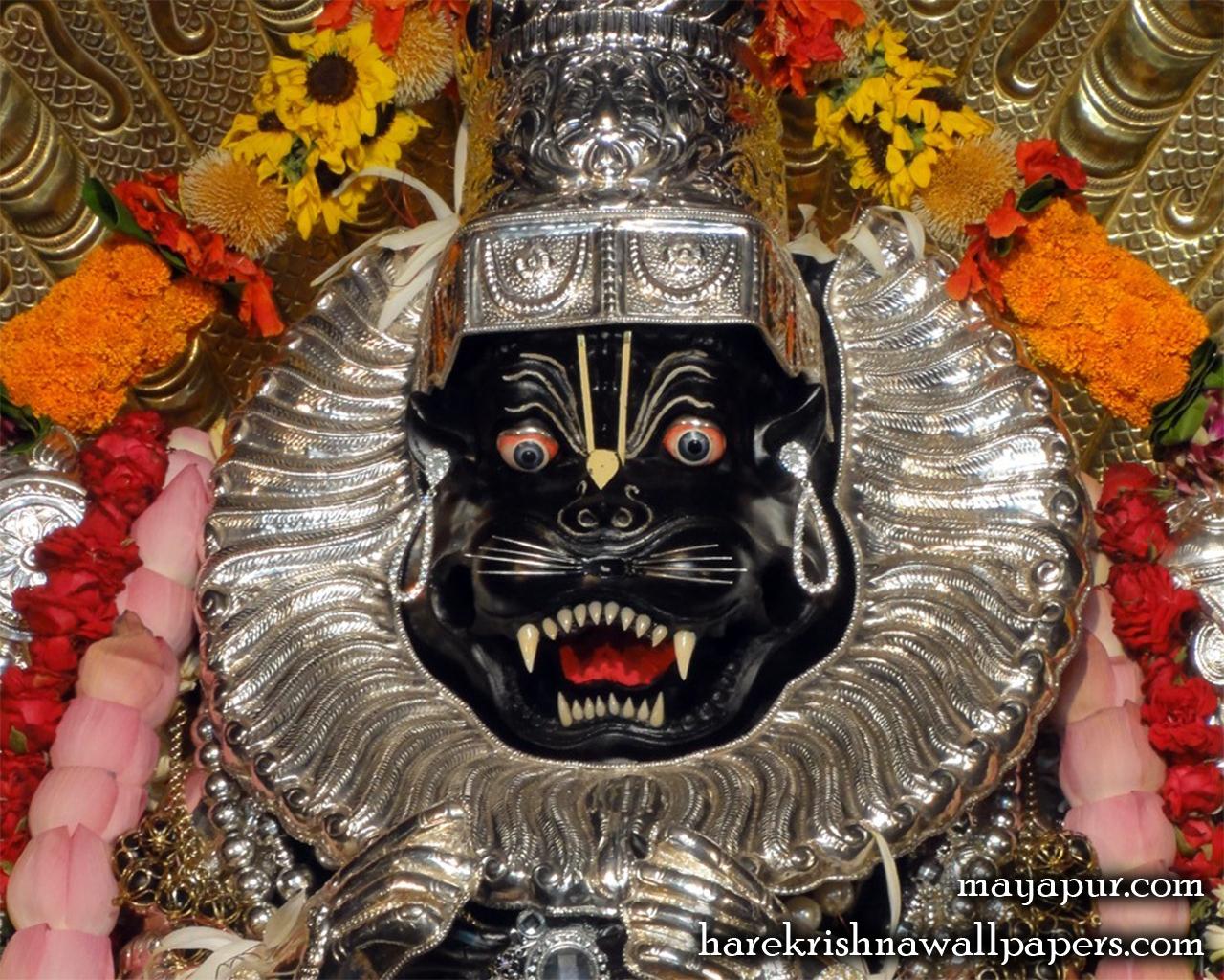 Sri Narasimha Deva Close up Wallpaper (004) Size 1280x1024 Download