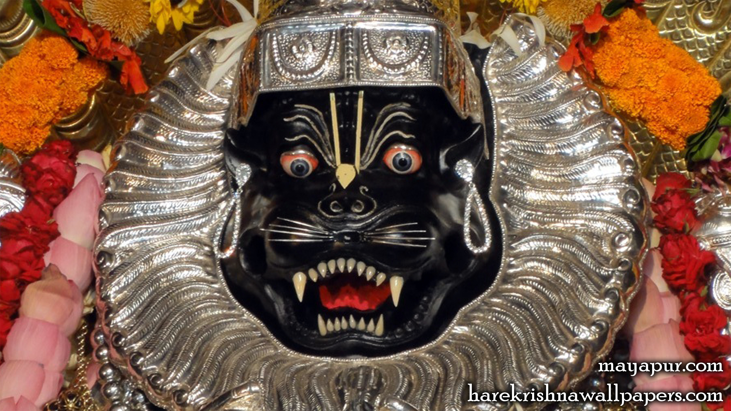 Sri Narasimha Deva Close up Wallpaper (004) Size 2400x1350 Download