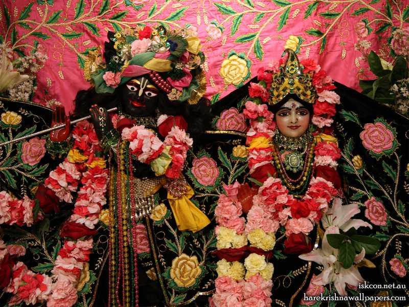 Sri Sri Radha Vallabh Close up Wallpaper (001)