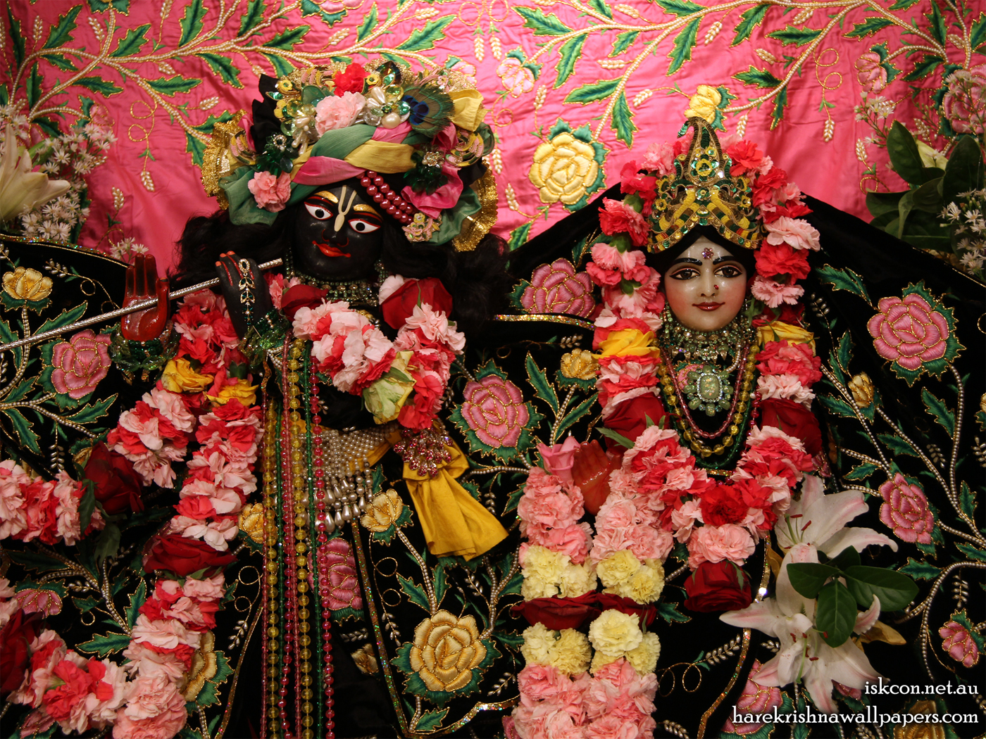 Sri Sri Radha Vallabh Close up Wallpaper (001) Size 1400x1050 Download