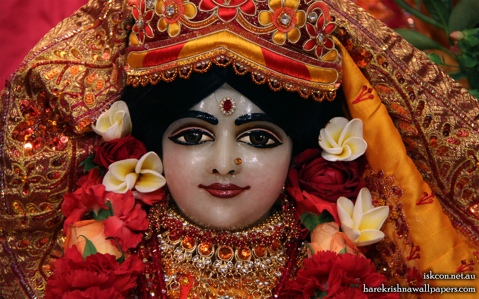 Sri Radha Close up Wallpaper (002) Size 1680x1050 Download
