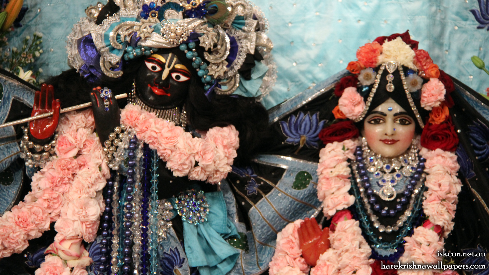 Sri Sri Radha Vallabh Close up Wallpaper (003) Size 1920x1080 Download