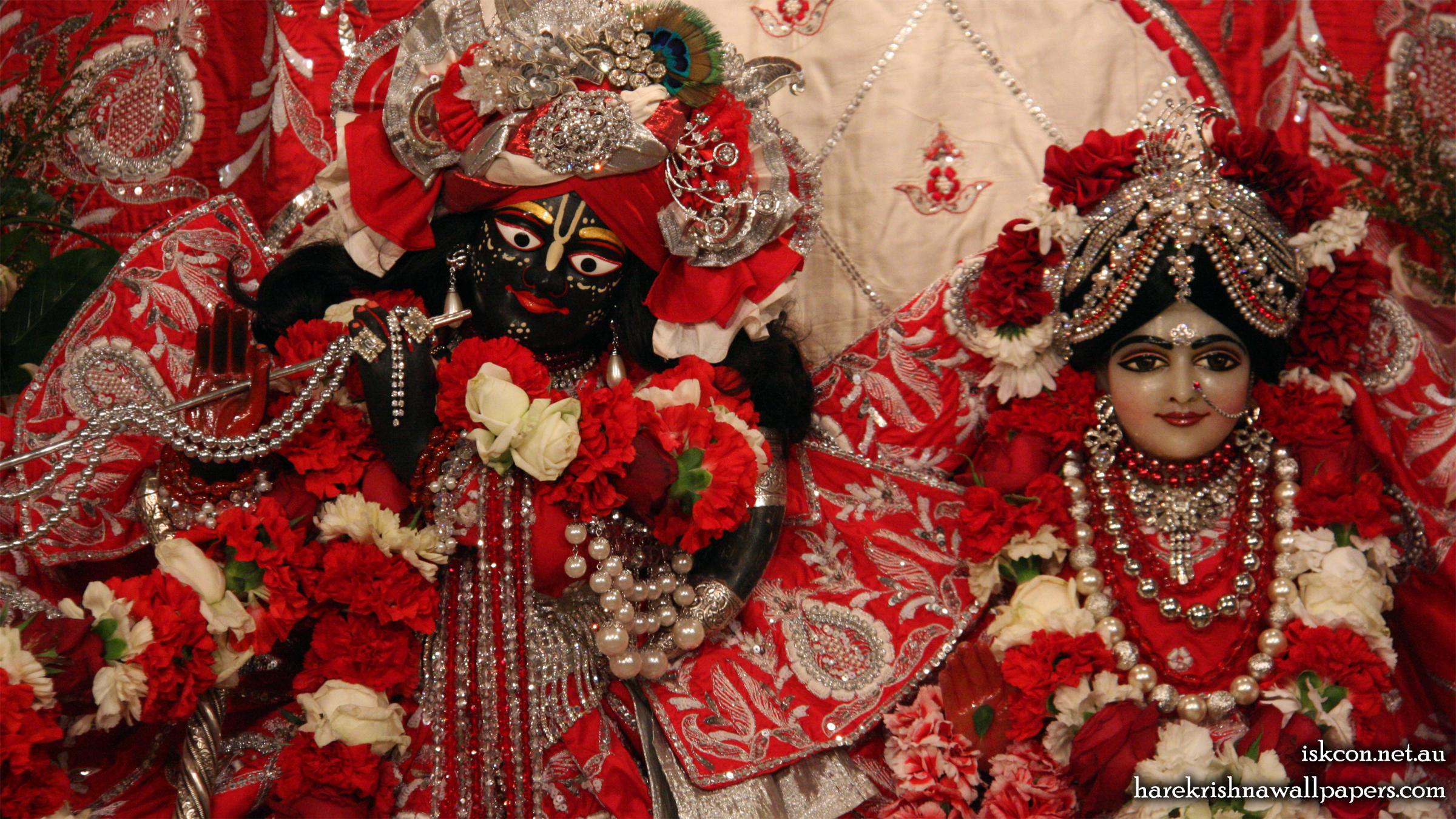 Sri Sri Radha Vallabh Close up Wallpaper (005) Size 2400x1350 Download