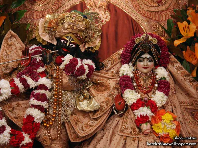 Sri Sri Radha Vallabh Close up Wallpaper (006)