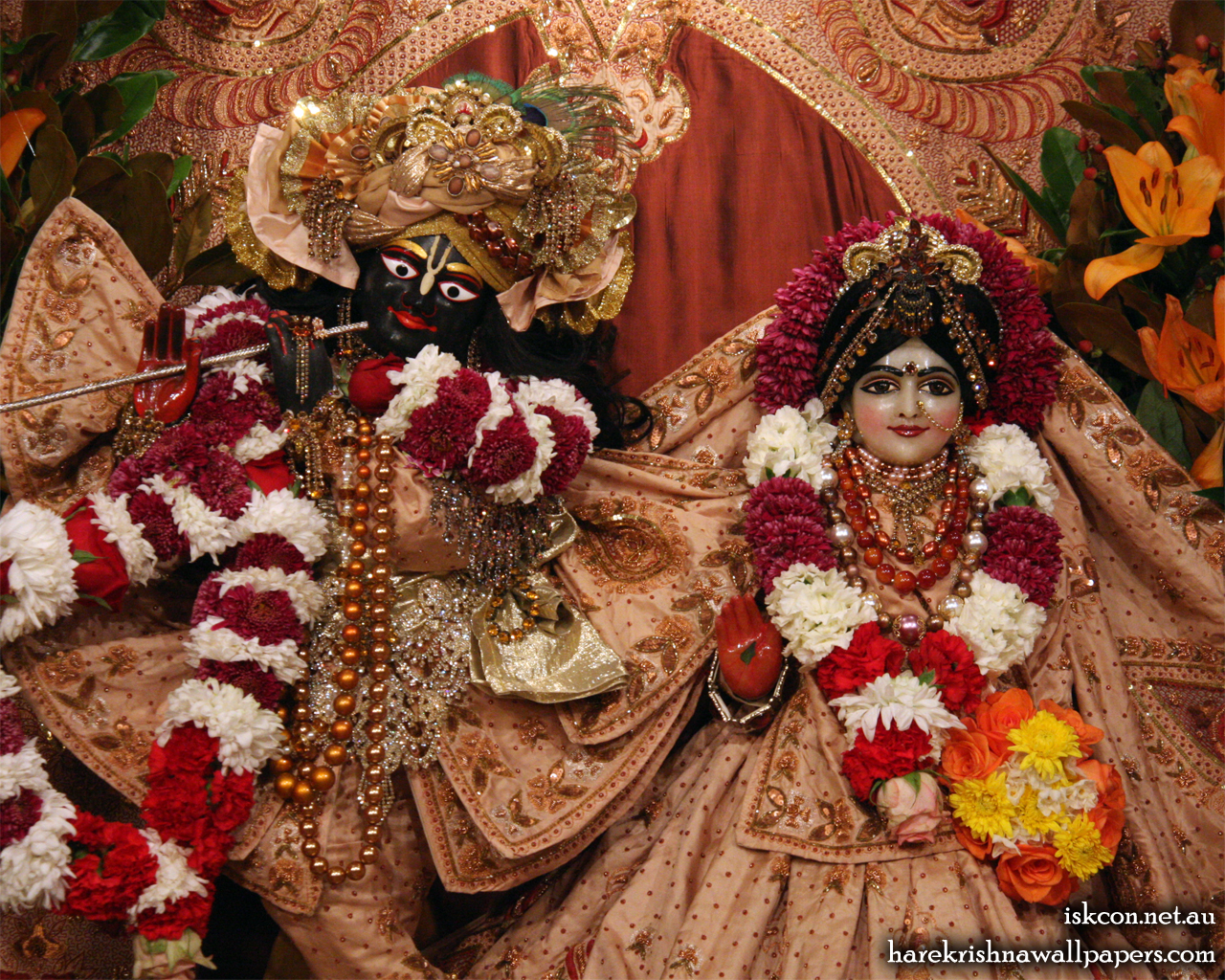 Sri Sri Radha Vallabh Close up Wallpaper (006) Size 1280x1024 Download