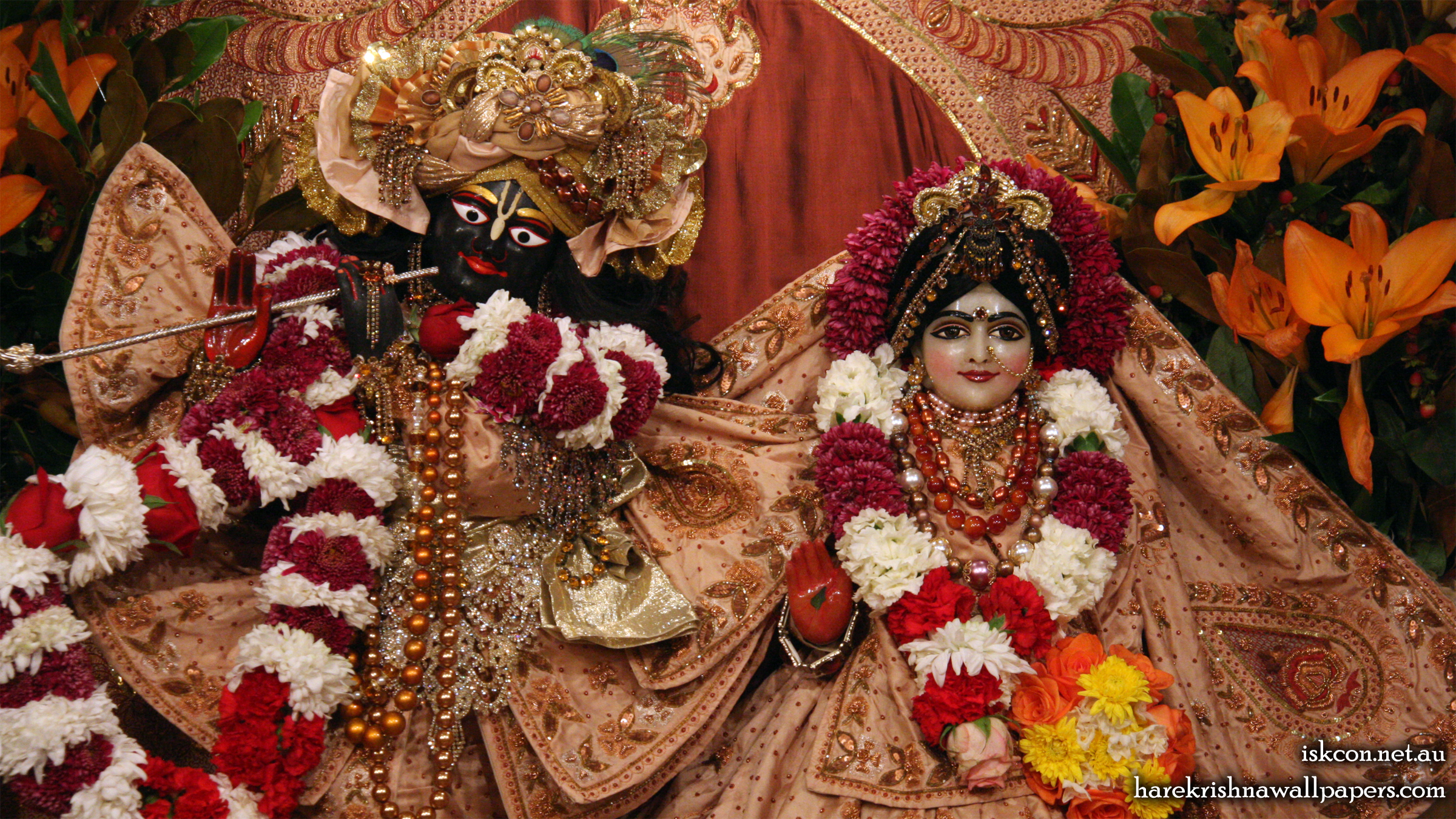 Sri Sri Radha Vallabh Close up Wallpaper (006) Size 2400x1350 Download