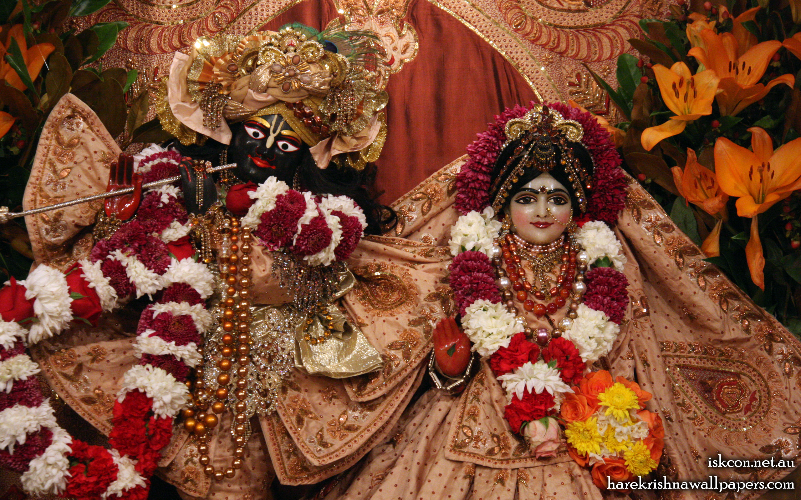 Sri Sri Radha Vallabh Close up Wallpaper (006) Size 2560x1600 Download