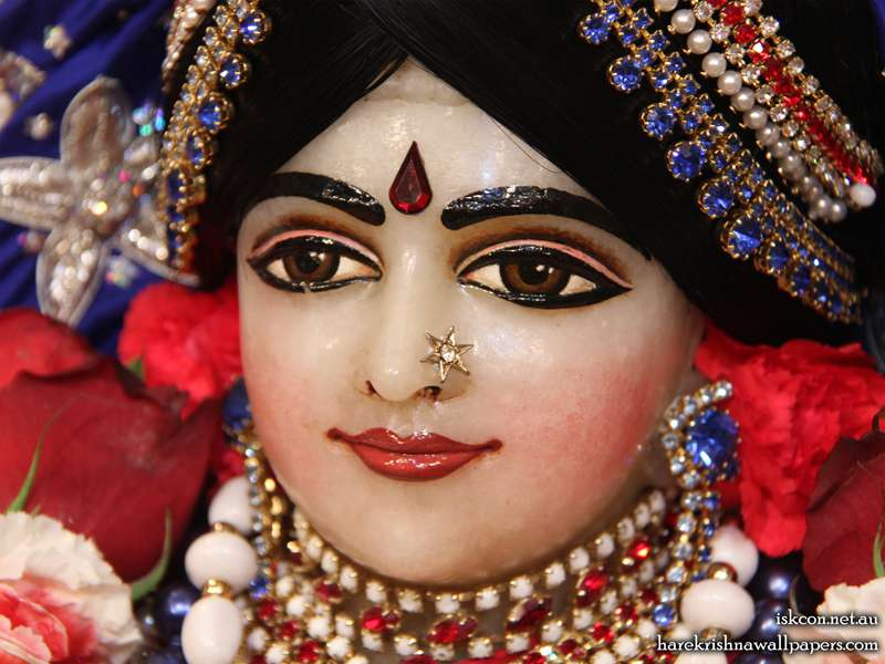 Sri Radha Close up Wallpaper (007)