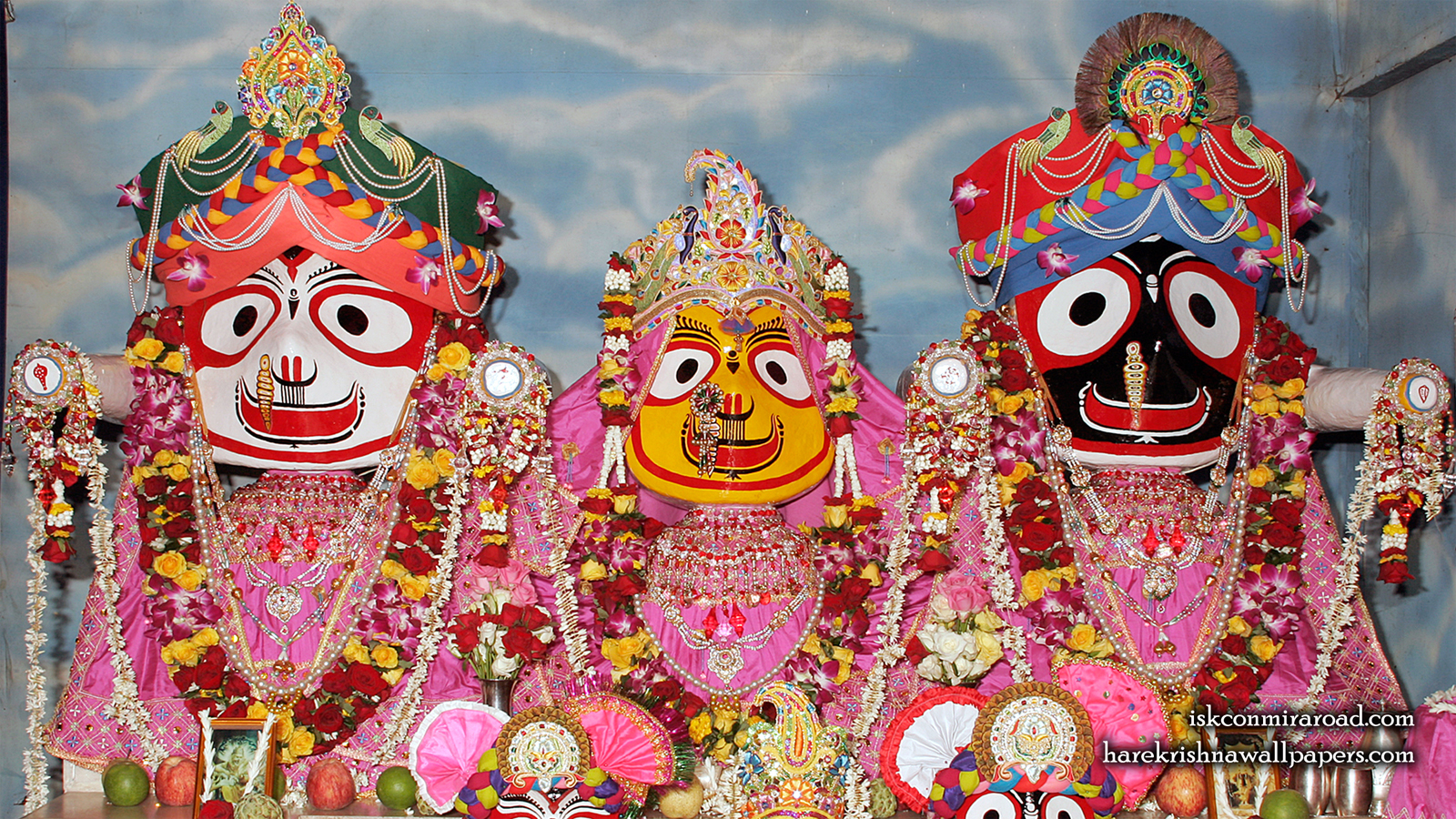 Jagannath Baladeva Subhadra Wallpaper (001) Size 1600x900 Download