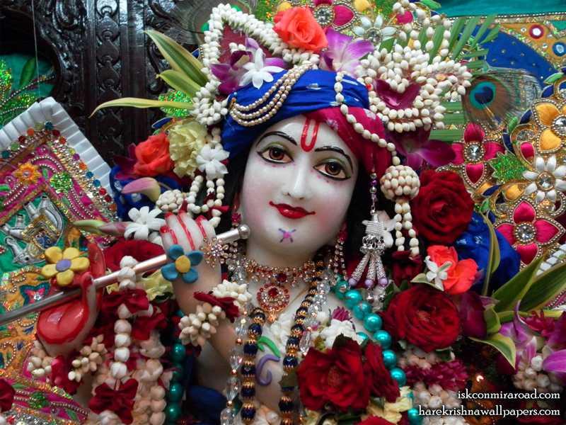 Sri Giridhari Close up Wallpaper (001)
