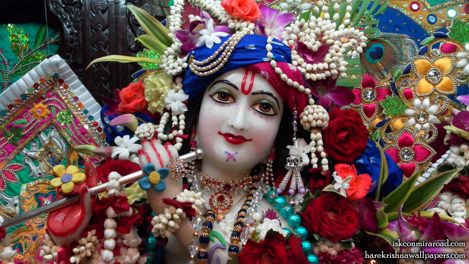 Sri Giridhari Close up Wallpaper (001) Size 1600x900 Download