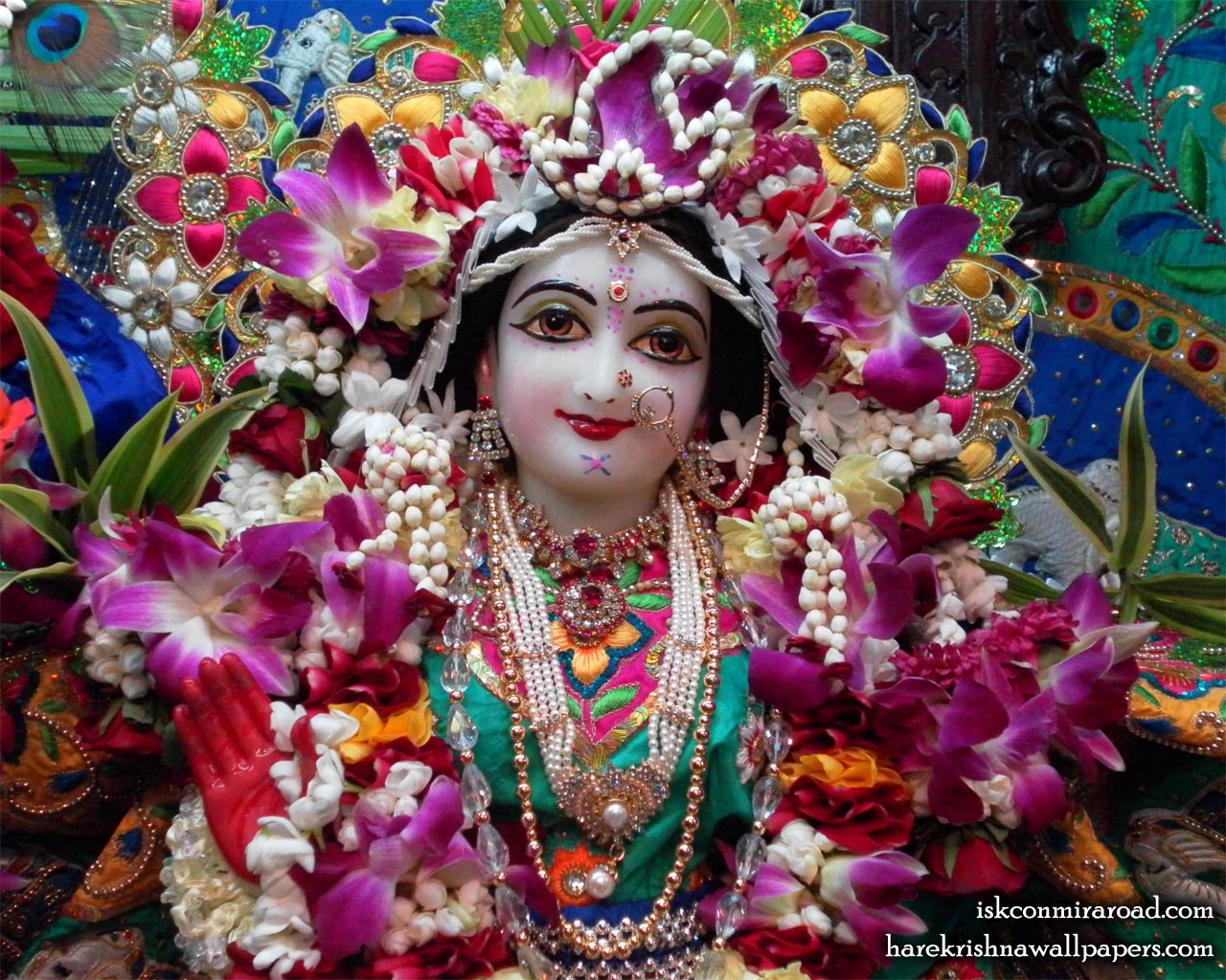 Sri Radha Close up Wallpaper (001) Size 1280x1024 Download