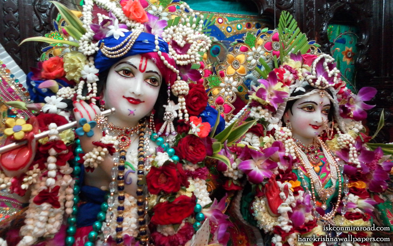 Sri Sri Radha Giridhari Close up Wallpaper (002) Size 1280x800 Download
