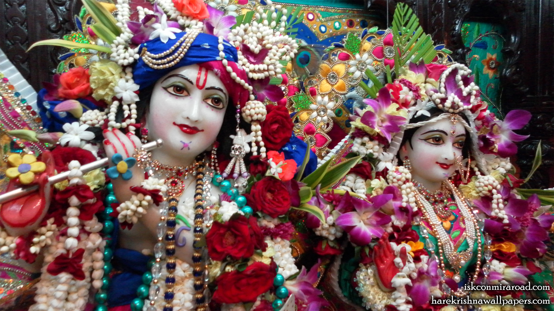 Sri Sri Radha Giridhari Close up Wallpaper (002) Size 1920x1080 Download