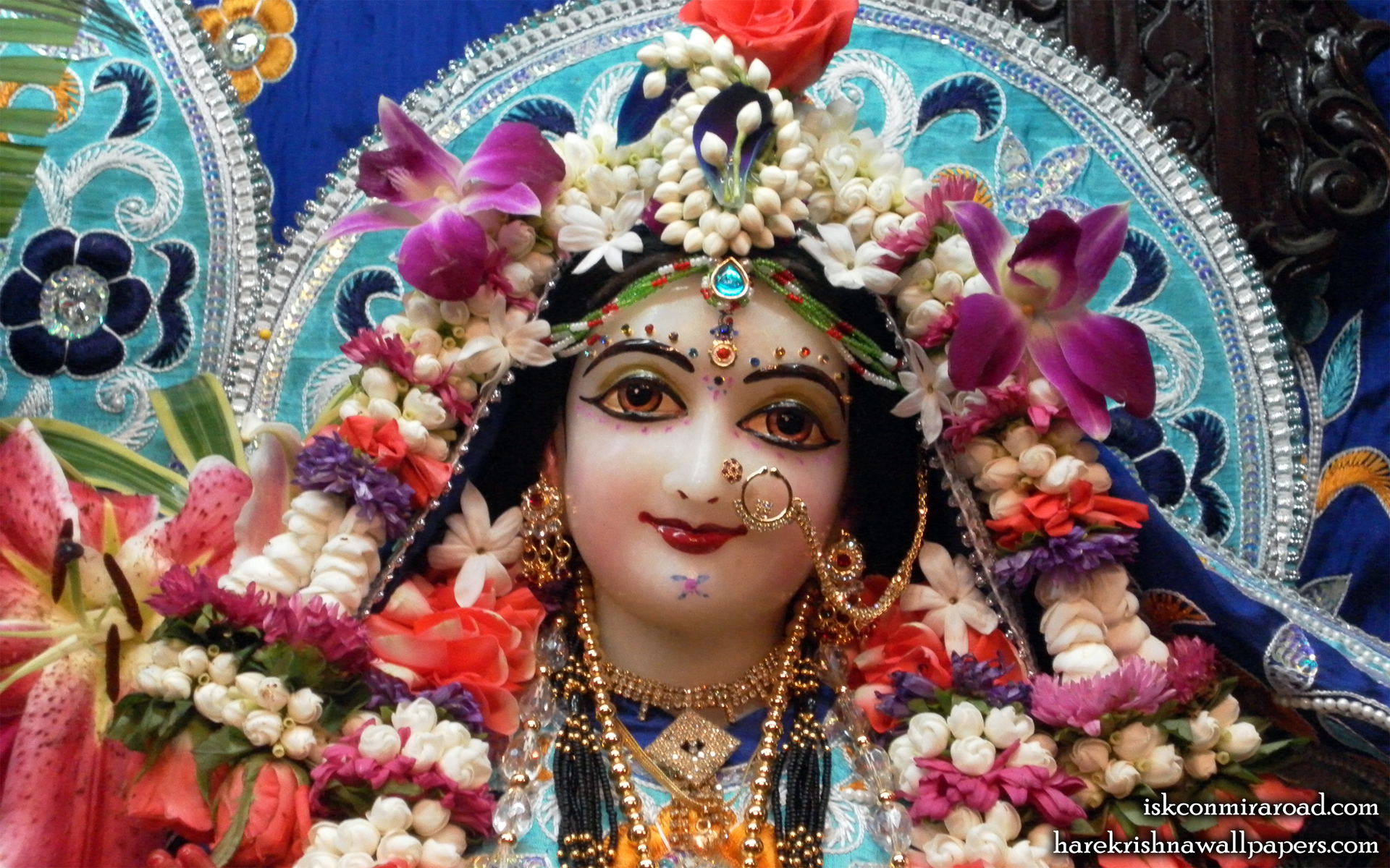 Sri Radha Close up Wallpaper (003) Size 1920x1200 Download