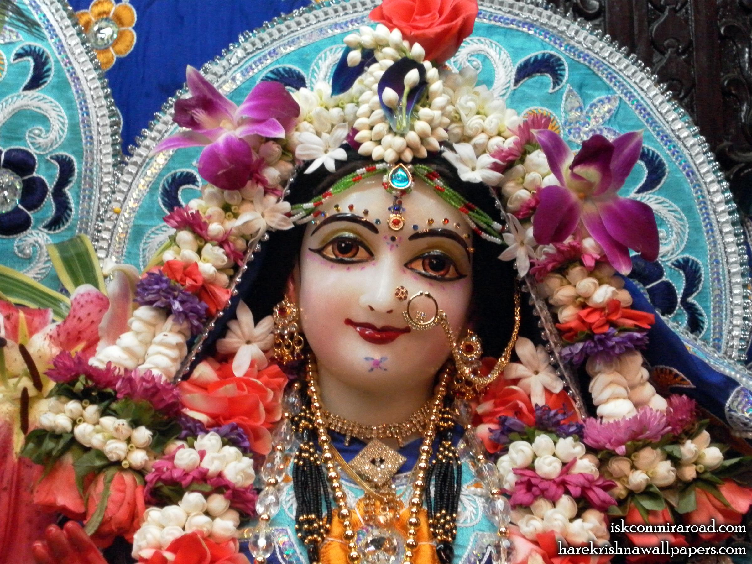 Sri Radha Close up Wallpaper (003) Size 2400x1800 Download