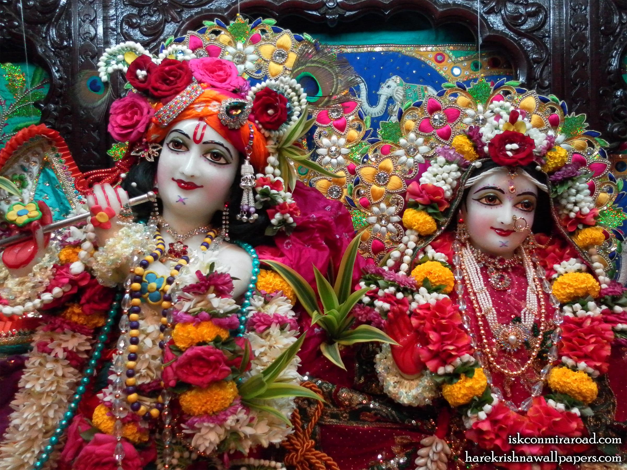 Sri Sri Radha Giridhari Close up Wallpaper (003) Size 2400x1800 Download