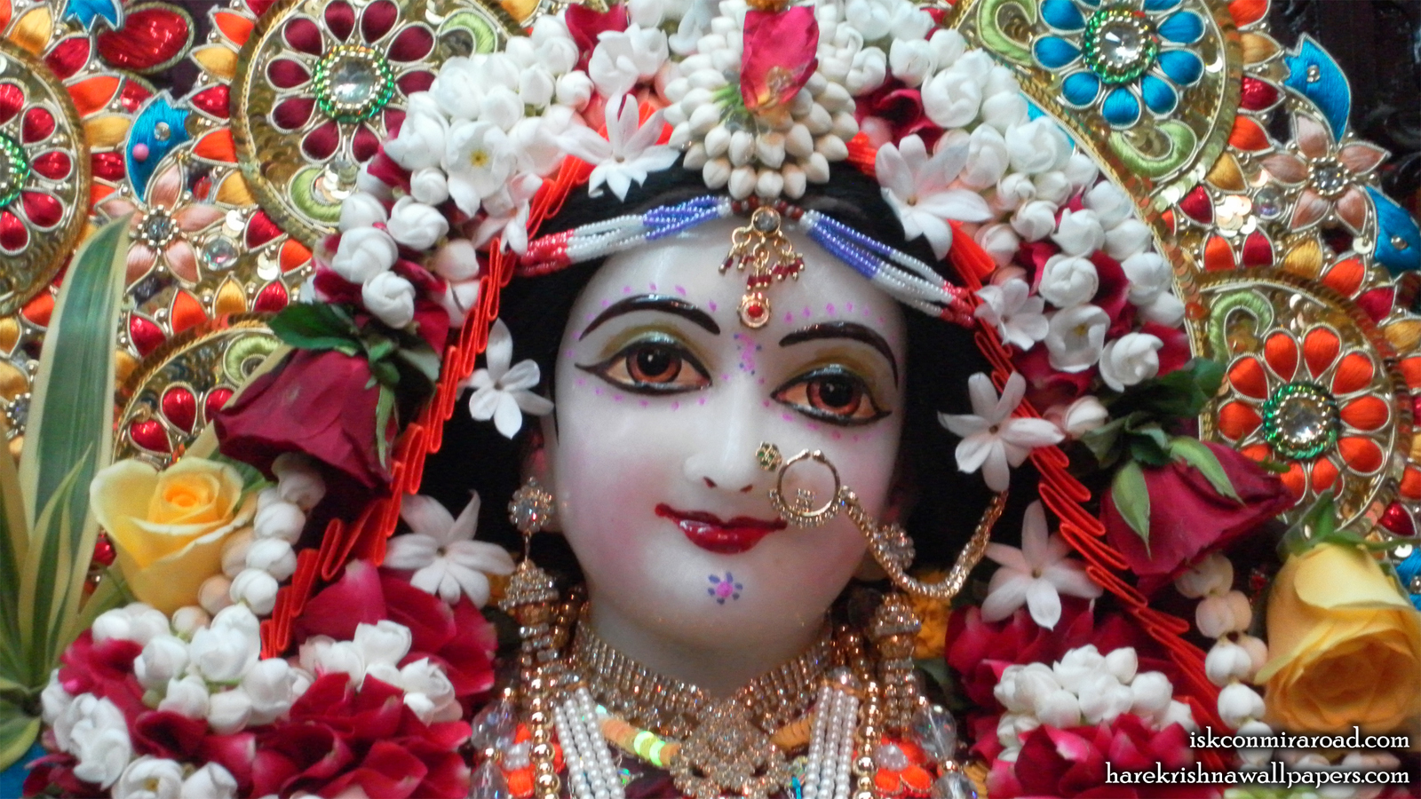 Sri Radha Close up Wallpaper (004) Size 1600x900 Download