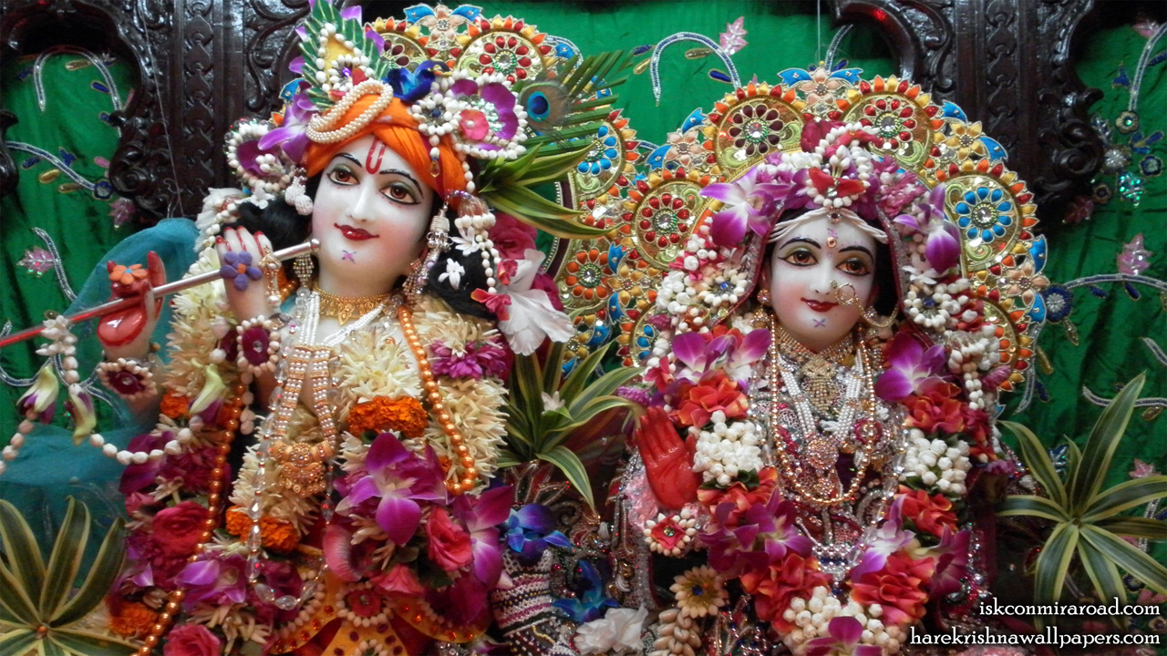 Sri Sri Radha Giridhari Close up Wallpaper (004) Size 1280x720 Download