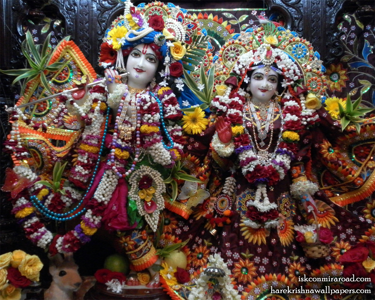 Sri Sri Radha Giridhari Wallpaper (005) Size 1280x1024 Download