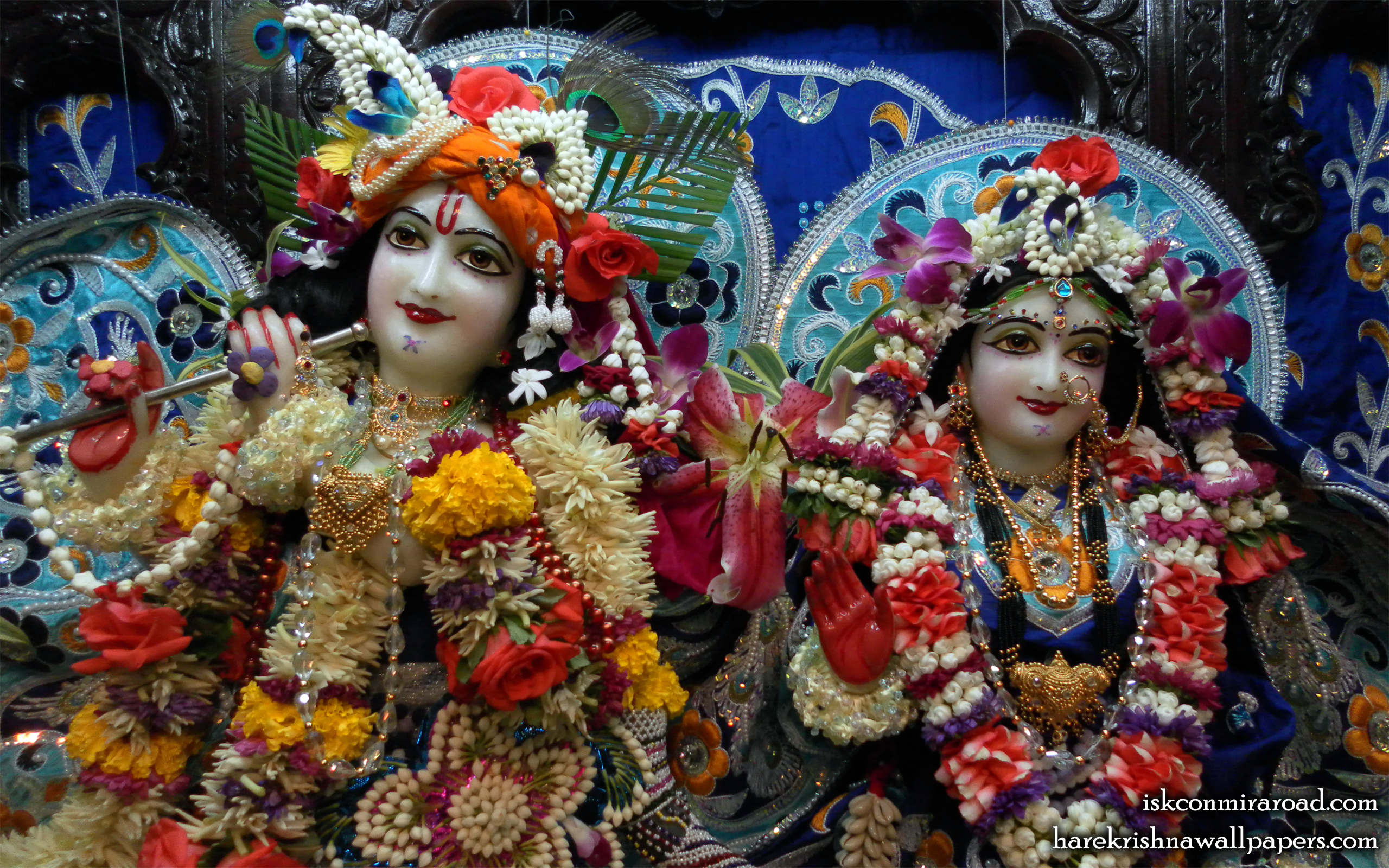 Sri Sri Radha Giridhari Close up Wallpaper (005) Size 2560x1600 Download