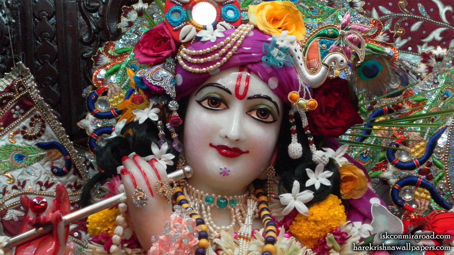 Sri Giridhari Close up Wallpaper (008) Size 1920x1080 Download