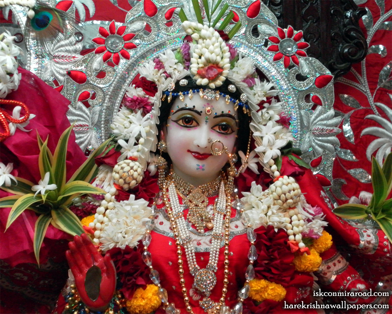 Sri Radha Close up Wallpaper (008) Size 1280x1024 Download